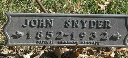 SNYDER, JOHN - Erie County, Ohio   JOHN SNYDER - Ohio Gravestone Photos