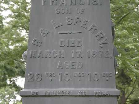 SPERRY, FRANCIS - Erie County, Ohio   FRANCIS SPERRY - Ohio Gravestone Photos