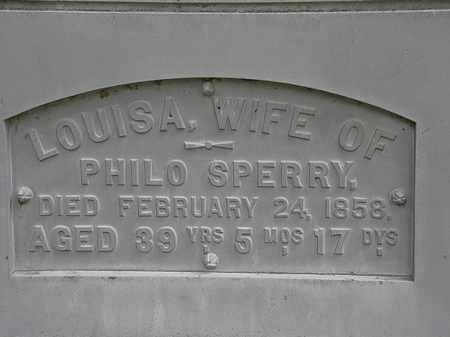 SPERRY, LOUISA - Erie County, Ohio   LOUISA SPERRY - Ohio Gravestone Photos