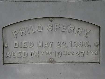 SPERRY, PHILO - Erie County, Ohio | PHILO SPERRY - Ohio Gravestone Photos