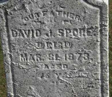 SPORE, DAVID J. - Erie County, Ohio   DAVID J. SPORE - Ohio Gravestone Photos