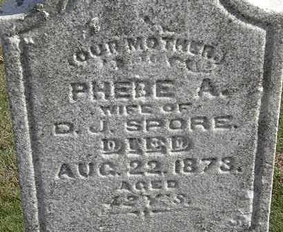 SPORE, PHEBE A. - Erie County, Ohio | PHEBE A. SPORE - Ohio Gravestone Photos