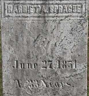 SPRAGUE, HARRIET A. - Erie County, Ohio | HARRIET A. SPRAGUE - Ohio Gravestone Photos