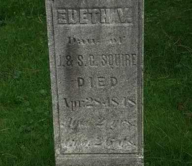 SQUIRE, J. - Erie County, Ohio   J. SQUIRE - Ohio Gravestone Photos