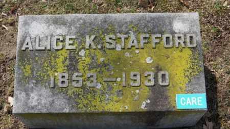 STAFFORD, ALICE K. - Erie County, Ohio   ALICE K. STAFFORD - Ohio Gravestone Photos