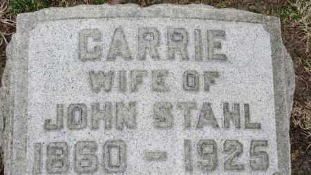 STAHL, CARRIE - Erie County, Ohio   CARRIE STAHL - Ohio Gravestone Photos