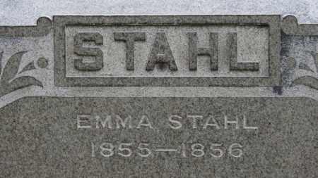 STAHL, EMMA - Erie County, Ohio | EMMA STAHL - Ohio Gravestone Photos