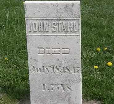 STAHL, JOHN - Erie County, Ohio   JOHN STAHL - Ohio Gravestone Photos