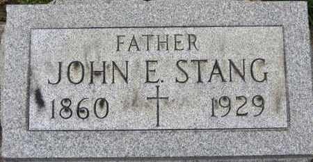 STANG, JOHN E. - Erie County, Ohio | JOHN E. STANG - Ohio Gravestone Photos