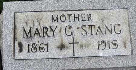 STANG, MARY G. - Erie County, Ohio   MARY G. STANG - Ohio Gravestone Photos