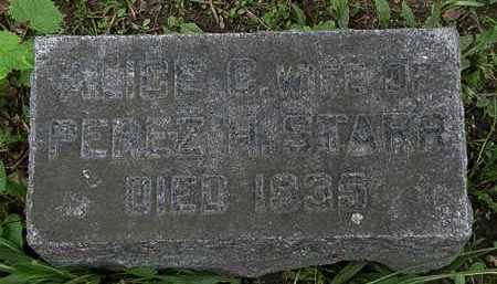 STARR, ALICE - Erie County, Ohio | ALICE STARR - Ohio Gravestone Photos