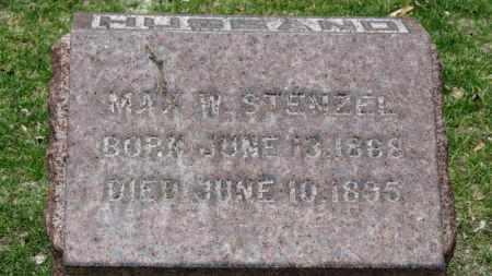 STENZEL, MAX W. - Erie County, Ohio | MAX W. STENZEL - Ohio Gravestone Photos