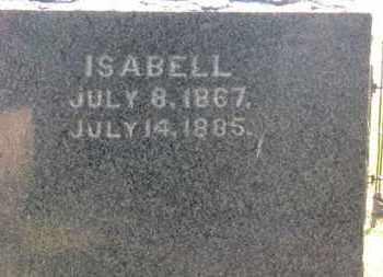 STEVENSON, ISABELL - Erie County, Ohio | ISABELL STEVENSON - Ohio Gravestone Photos