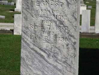 STICK, ERNEST - Erie County, Ohio | ERNEST STICK - Ohio Gravestone Photos