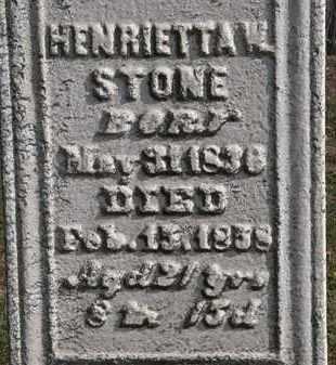 STONE, HENRIETTA W. - Erie County, Ohio | HENRIETTA W. STONE - Ohio Gravestone Photos