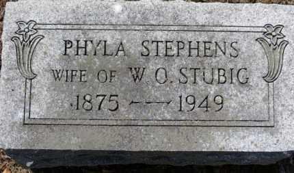 STEPHENS STUBIG, PHYLA - Erie County, Ohio | PHYLA STEPHENS STUBIG - Ohio Gravestone Photos