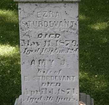 STURDEVANT, EZRA - Erie County, Ohio | EZRA STURDEVANT - Ohio Gravestone Photos