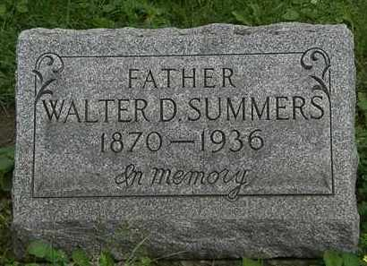 SUMMERS, WALTER D. - Erie County, Ohio | WALTER D. SUMMERS - Ohio Gravestone Photos