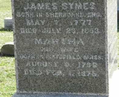 SYMES, MARTHA - Erie County, Ohio | MARTHA SYMES - Ohio Gravestone Photos