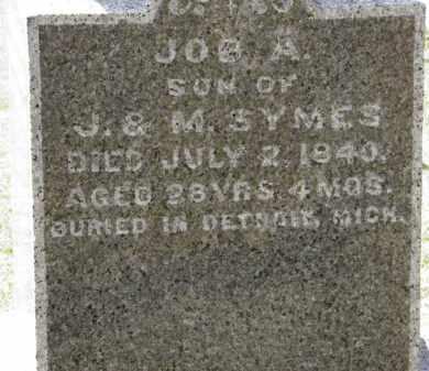 SYMES, JOB A. - Erie County, Ohio | JOB A. SYMES - Ohio Gravestone Photos