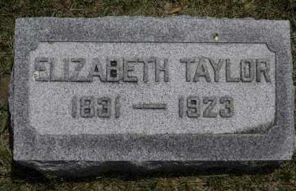 TAYLOR, ELIZABETH - Erie County, Ohio   ELIZABETH TAYLOR - Ohio Gravestone Photos