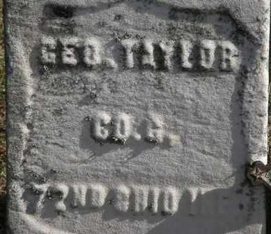 TAYLOR, GEO - Erie County, Ohio | GEO TAYLOR - Ohio Gravestone Photos