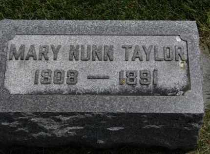 TAYLOR, MARY NUNN - Erie County, Ohio | MARY NUNN TAYLOR - Ohio Gravestone Photos