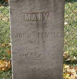 TEMPLE, MARY - Erie County, Ohio | MARY TEMPLE - Ohio Gravestone Photos