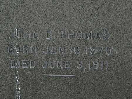 THOMAS, JOHN D. - Erie County, Ohio | JOHN D. THOMAS - Ohio Gravestone Photos