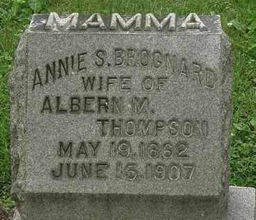 BROGNARD THOMPSON, ANNIE S. - Erie County, Ohio | ANNIE S. BROGNARD THOMPSON - Ohio Gravestone Photos