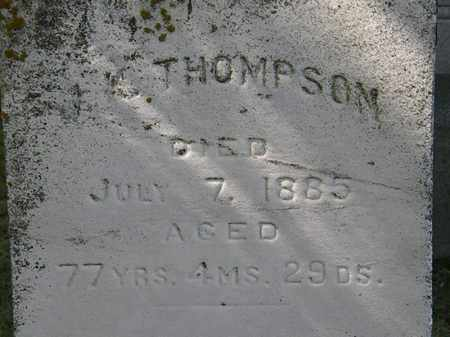 THOMPSON, J.K. - Erie County, Ohio | J.K. THOMPSON - Ohio Gravestone Photos