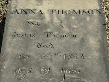 THOMSON, ANNA - Erie County, Ohio | ANNA THOMSON - Ohio Gravestone Photos