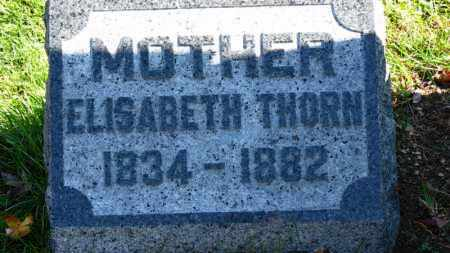 THORN, ELISABETH - Erie County, Ohio   ELISABETH THORN - Ohio Gravestone Photos
