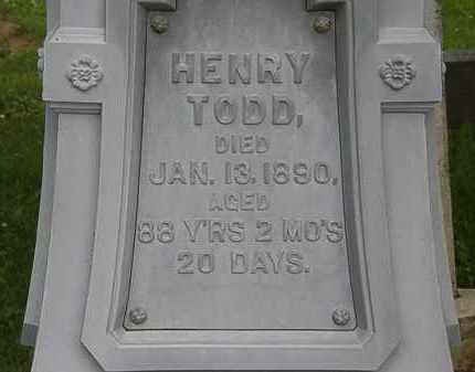 TODD, HENRY - Erie County, Ohio | HENRY TODD - Ohio Gravestone Photos