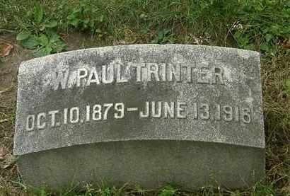 TRINTER, W. PAUL - Erie County, Ohio | W. PAUL TRINTER - Ohio Gravestone Photos