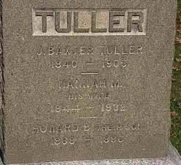 TULLER, J BAXTER - Erie County, Ohio | J BAXTER TULLER - Ohio Gravestone Photos