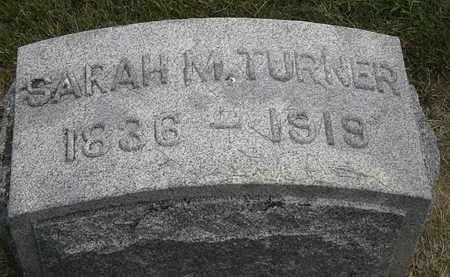TURNER, SARAH M. - Erie County, Ohio   SARAH M. TURNER - Ohio Gravestone Photos