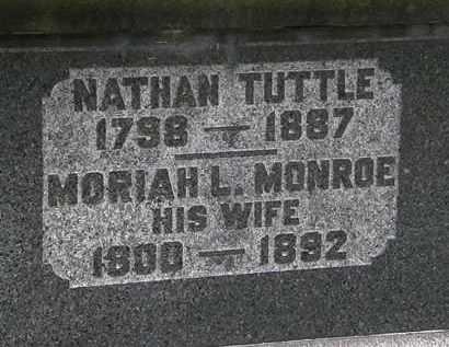 MONROE TUTTLE, MORIAH L. - Erie County, Ohio | MORIAH L. MONROE TUTTLE - Ohio Gravestone Photos