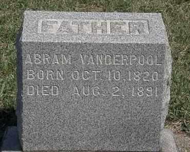 VANDERPOOL, ABRAM - Erie County, Ohio | ABRAM VANDERPOOL - Ohio Gravestone Photos