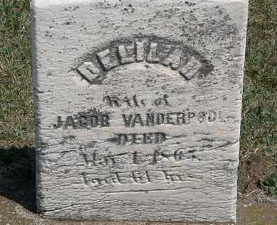 VANDERPOOL, DELILAH - Erie County, Ohio   DELILAH VANDERPOOL - Ohio Gravestone Photos
