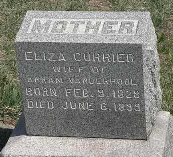 CURRIER VANDERPOOL, ELIZA - Erie County, Ohio | ELIZA CURRIER VANDERPOOL - Ohio Gravestone Photos