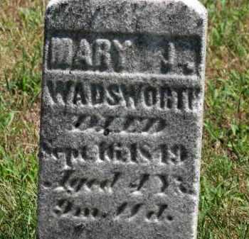 WADSWORTH, MARY J. - Erie County, Ohio | MARY J. WADSWORTH - Ohio Gravestone Photos