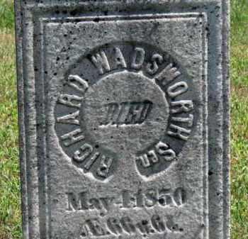 WADSWORTH, RICHARD - Erie County, Ohio   RICHARD WADSWORTH - Ohio Gravestone Photos