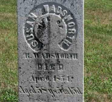 WADSWORTH, SUSAN - Erie County, Ohio | SUSAN WADSWORTH - Ohio Gravestone Photos
