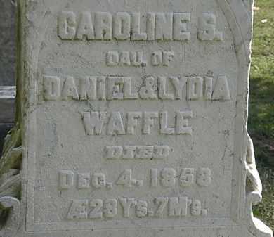 WAFFLE, CAROLINE S. - Erie County, Ohio | CAROLINE S. WAFFLE - Ohio Gravestone Photos
