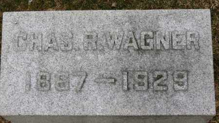 WAGNER, CHAS. R. - Erie County, Ohio   CHAS. R. WAGNER - Ohio Gravestone Photos