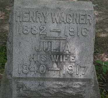 WAGNER, JULIA - Erie County, Ohio | JULIA WAGNER - Ohio Gravestone Photos