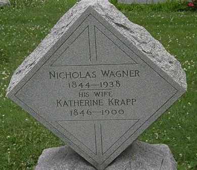 KRAPP WAGNER, KATHERINE - Erie County, Ohio | KATHERINE KRAPP WAGNER - Ohio Gravestone Photos
