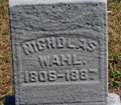WAHL, NICHOLAS - Erie County, Ohio | NICHOLAS WAHL - Ohio Gravestone Photos