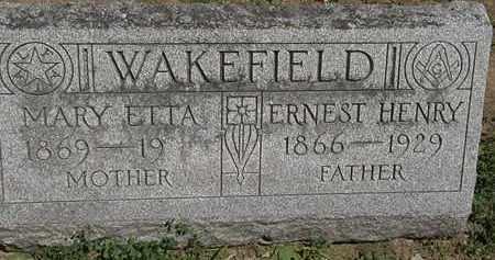WAKEFIELD, ERNEST HENRY - Erie County, Ohio | ERNEST HENRY WAKEFIELD - Ohio Gravestone Photos